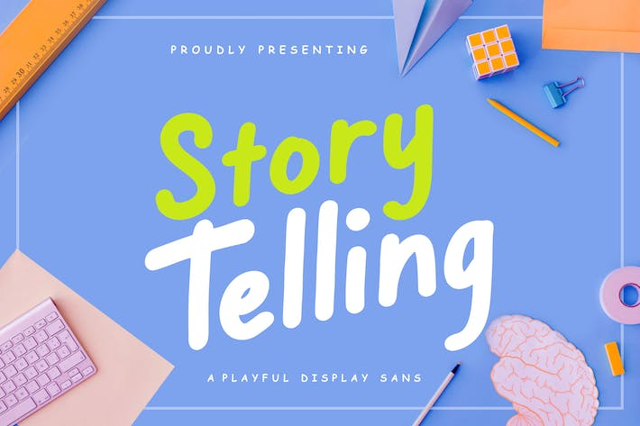 Cover Image For Story Telling Fun Font