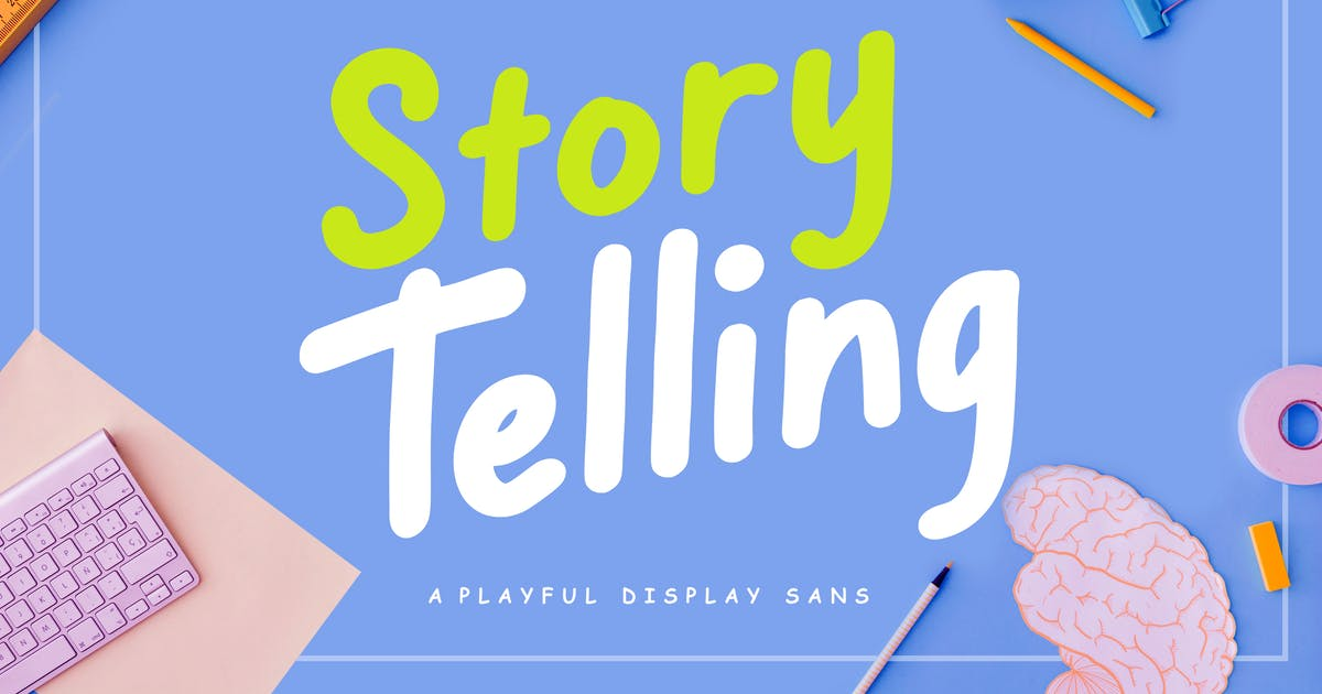 Download Story Telling Fun Font by RahardiCreative