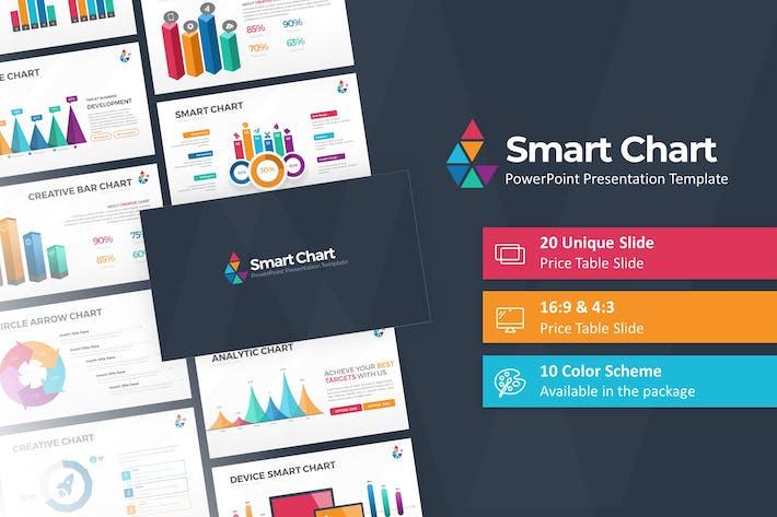 Thumbnail for Smart Chart PowerPoint Presentation Template