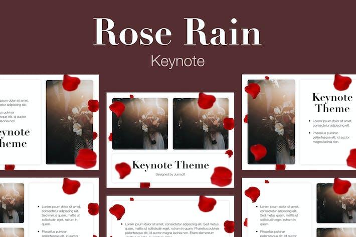 Thumbnail for Rose Rain Keynote Template