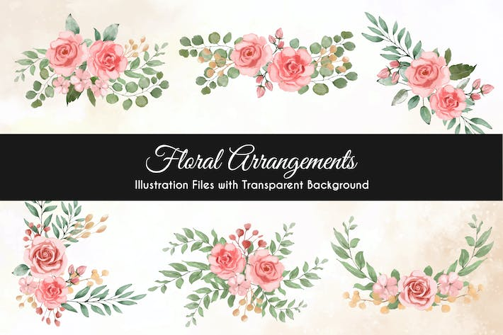 Thumbnail for Watercolor Floral Illustration