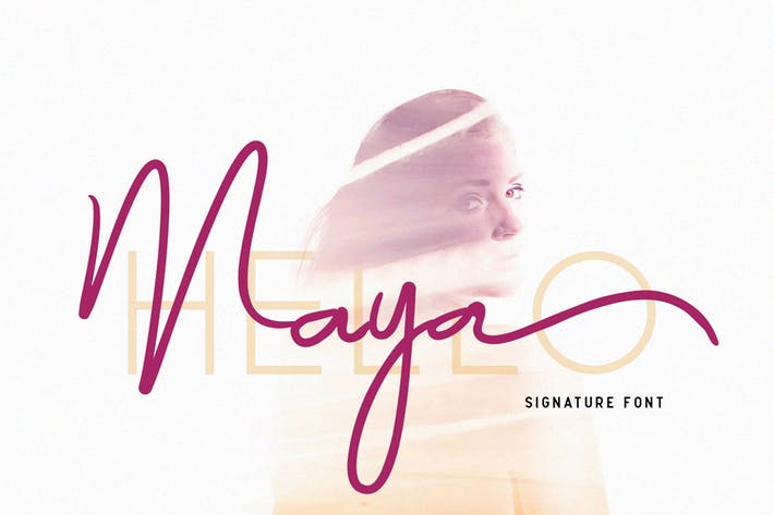 Thumbnail for Maya - Luxury Signature Font