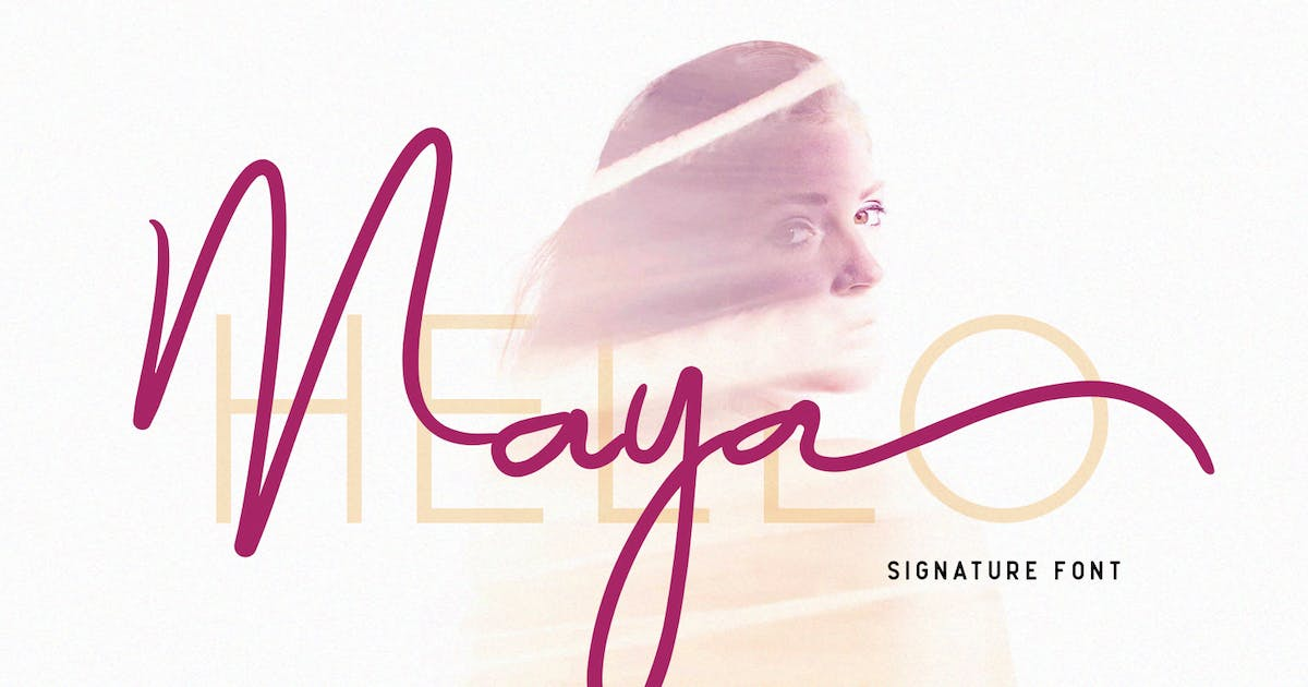 Download Maya - Luxury Signature Font by factory738