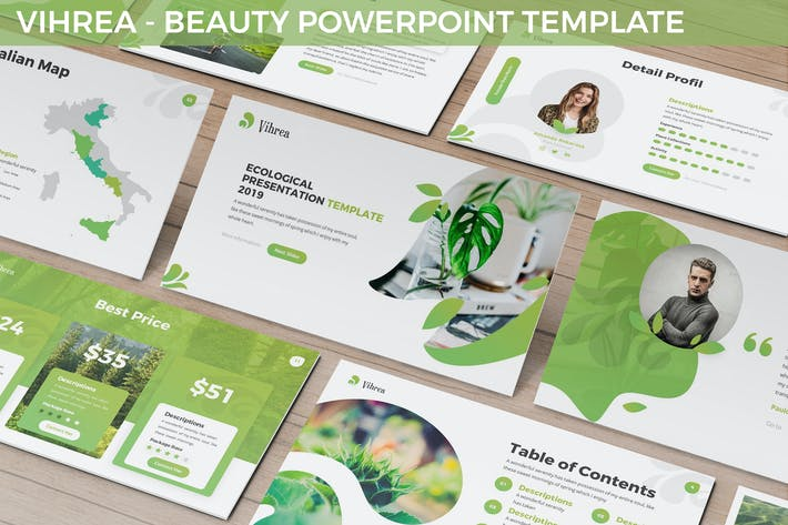 Cover Image For Vihrea - Beauty Powerpoint Template