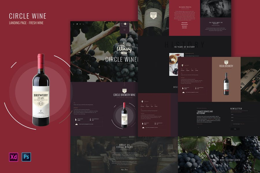 Circle Wine - Wine landing page product template