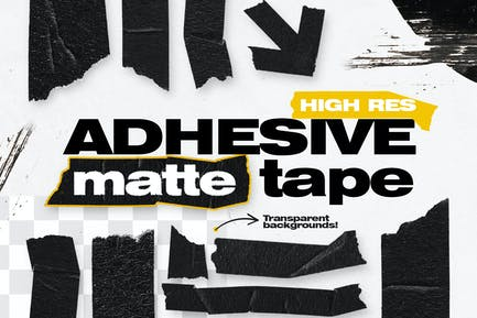 High Res Adhesive Matte Tape Objects