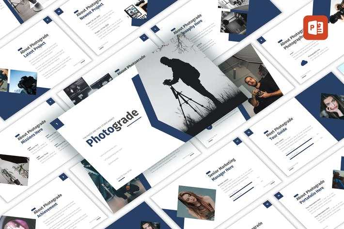 Thumbnail for Photograde - Studio Agency PowerPoint Template