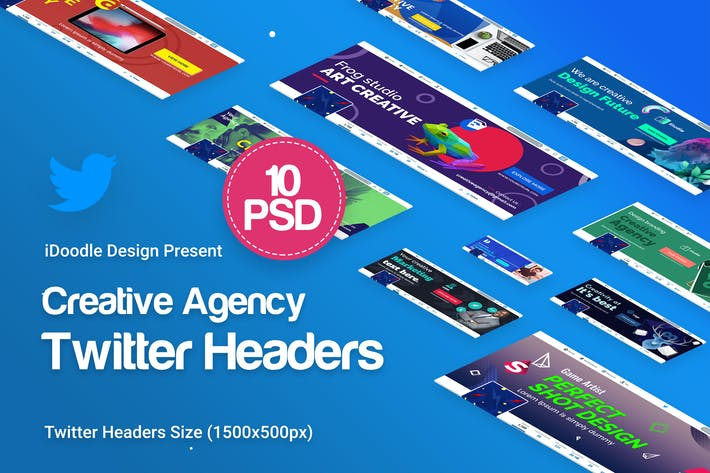 Thumbnail for Creative Agency, Startup, Studio Twitter Headers