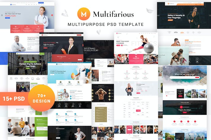 Thumbnail for Multifarious PSD Template