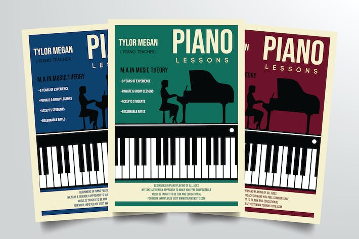 Thumbnail for Piano Course Flyer Template