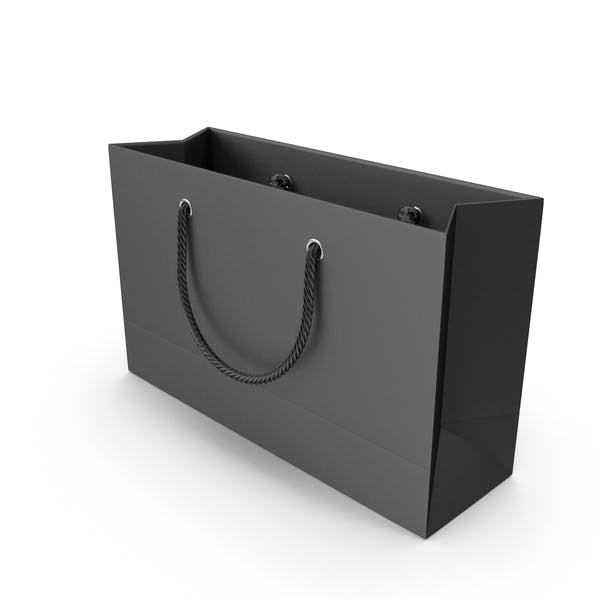 Black Shopping Bag with Black Handles