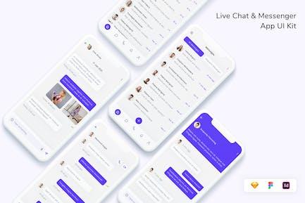 Live Chat & Messenger App UI Kit