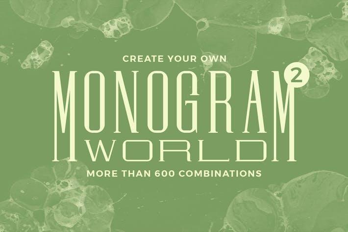 Thumbnail for Monogram World 2 l Monogram Font