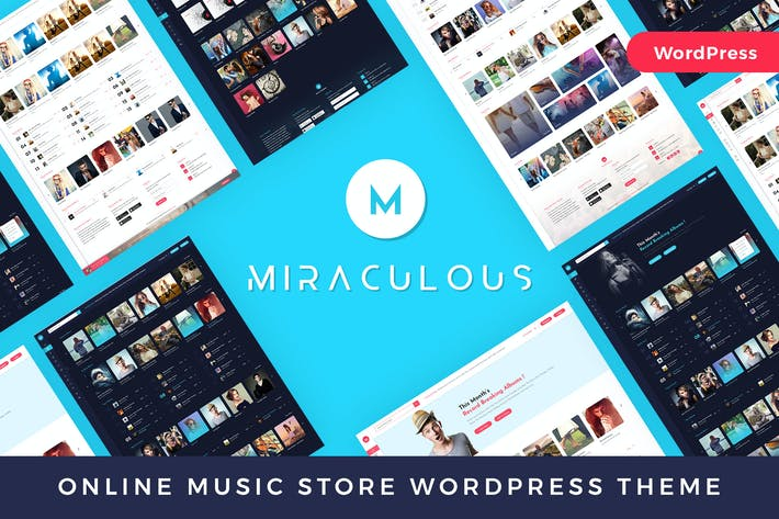 Cover Image For Miraculous - Online Music Store WordPress Theme