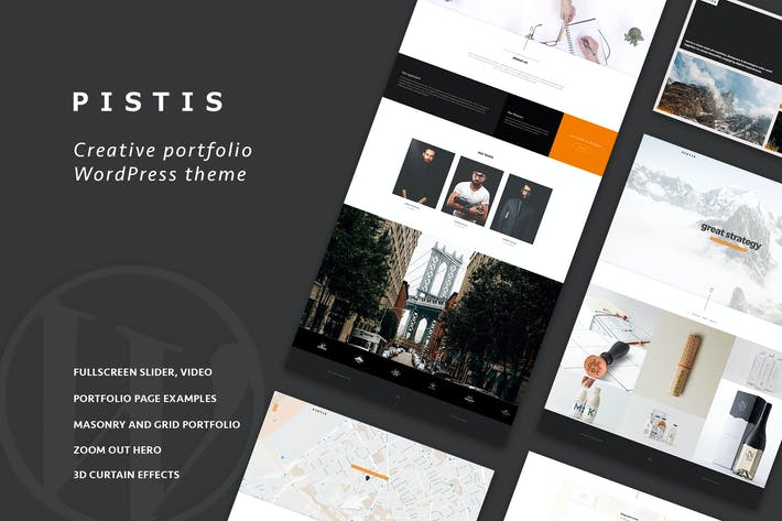 Thumbnail for Pistis - Portfolio / Agency WP Theme
