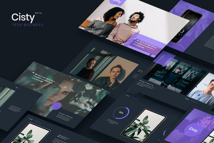 Thumbnail for CISTY - Tech Business Powerpoint Template