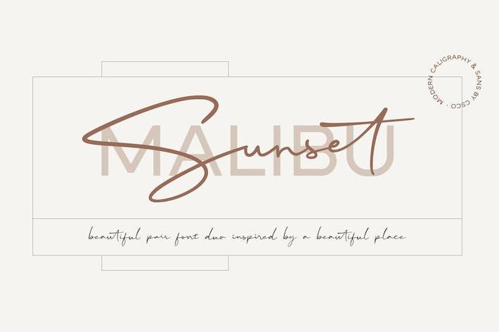Thumbnail for Malibu Sunset - A Beautiful Font Duo