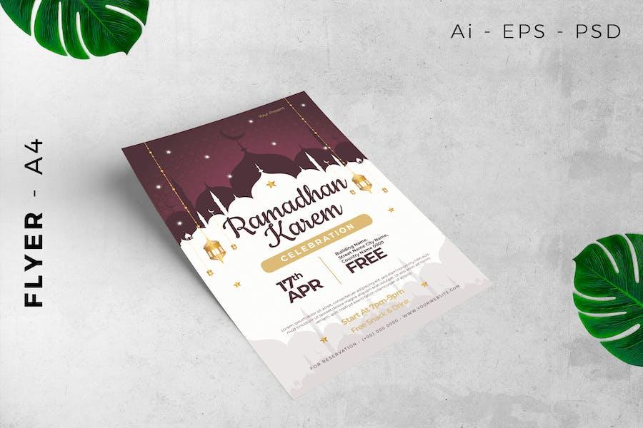 Flyer Ramadan Kareem / Celebration Miracle