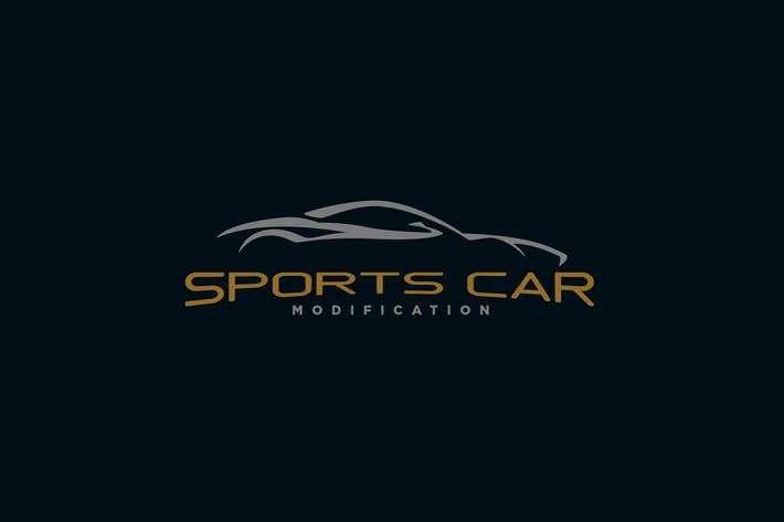 Thumbnail for Modern Sleek Sports Car Logo