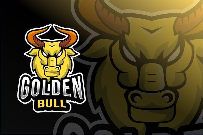 Golden Bull Esport Logo Template