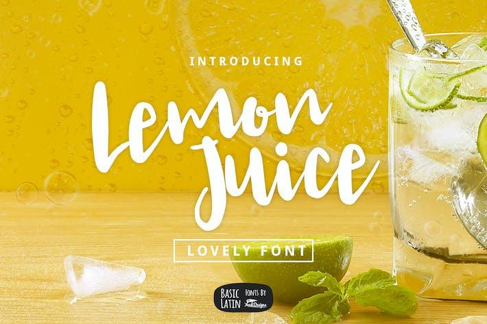 Thumbnail for Lemon Juice Script Font