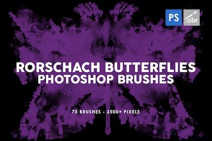 75 Rorschach Butterflies Photoshop Brushes