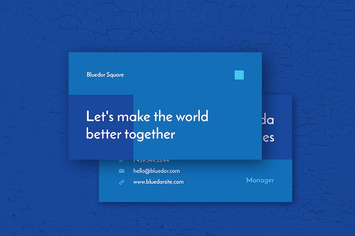 Thumbnail for Bluedor Business Card Template