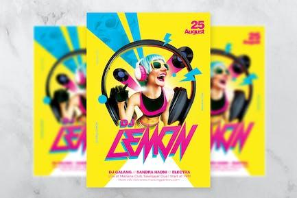 DJ Lemon Electro Flyer Template