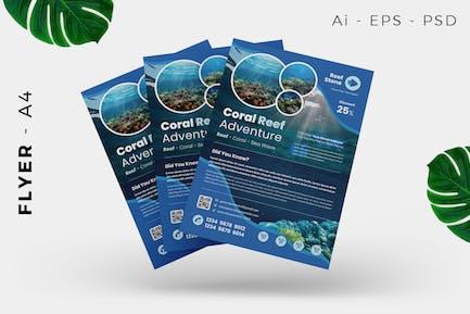 Coral Reef Flyer Design