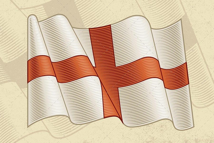 Vintage Flag Of England
