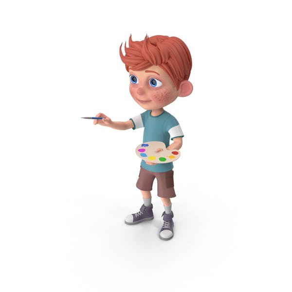 Thumbnail for Cartoon Boy Charlie Painting