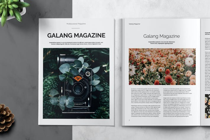 GALANG - Magazine Template