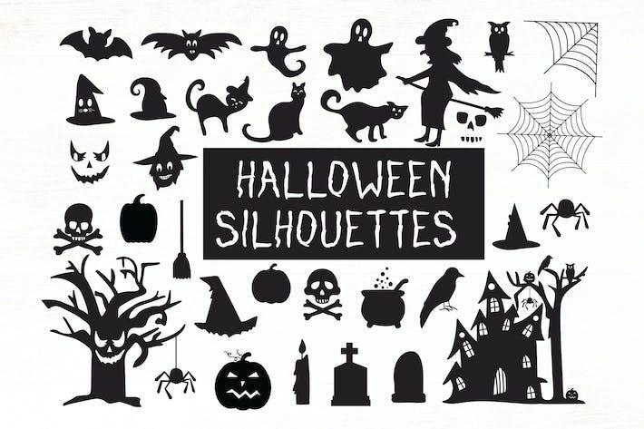 Halloween Silhouetten - Halloween Cliparts
