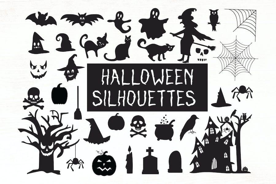 Halloween Silhouettes - Halloween Cliparts