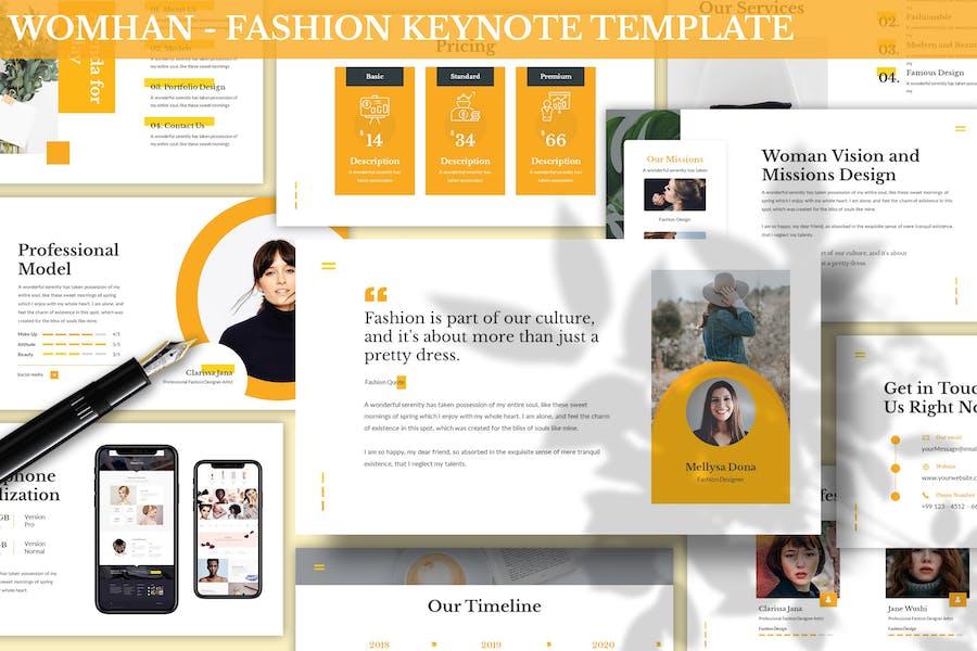 Womhan - Fashion Keynote Template