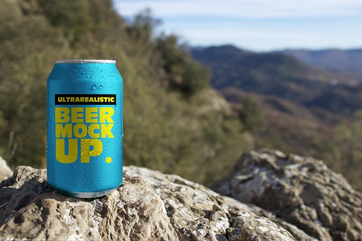 Thumbnail for Nature Beer Can Mockup