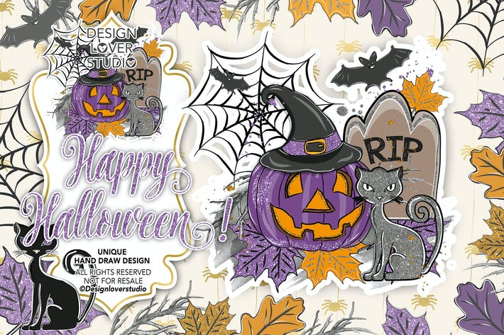 Cover Image For Happy Halloween design