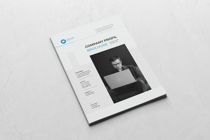Thumbnail for Blue Corporate Brochure