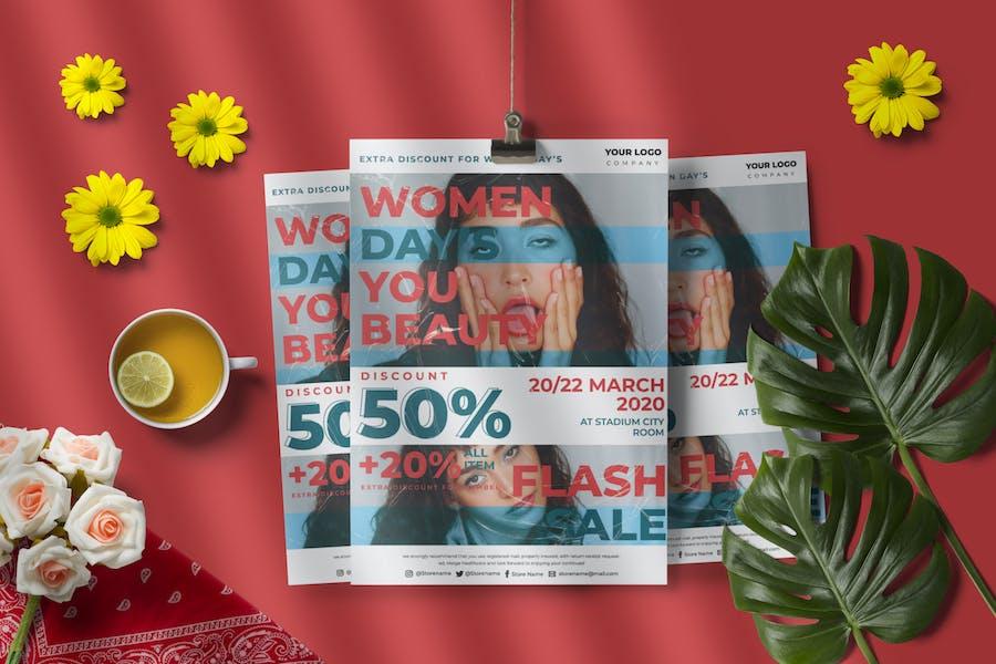 Women Sale Flyer