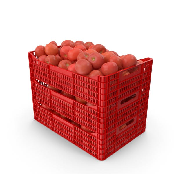 Plastic Crates of Tomatoes