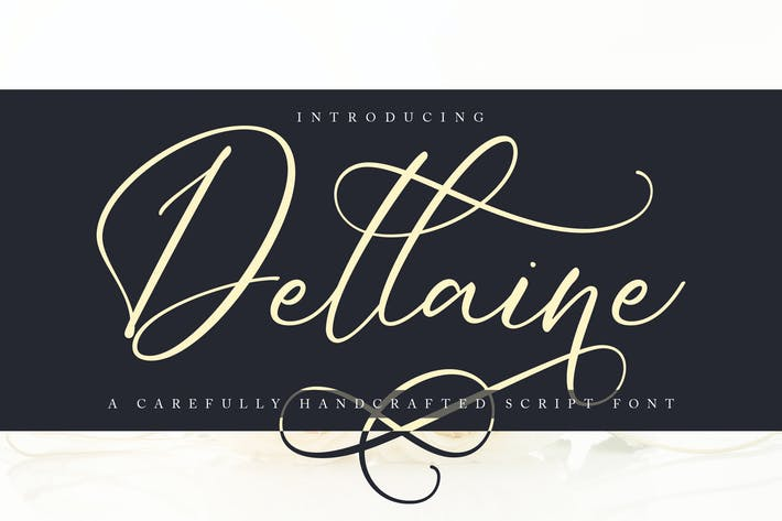 Thumbnail for Dellaine | A Carefully Handcrafted Script Font