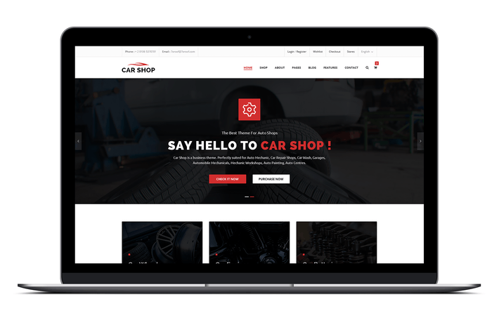 Thumbnail for Car Shop - Ecommerce PSD Template