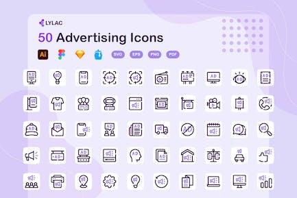 Lylac - Werbungs-Icons
