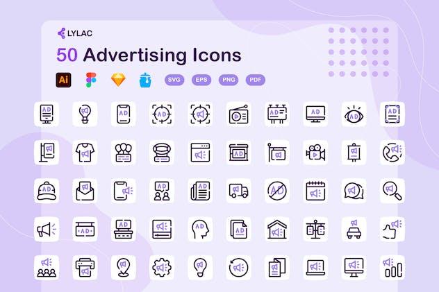 Lylac - Advertising Icons