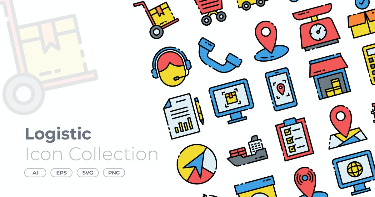 Download Logistic Filled Icon by GoodWare_Std