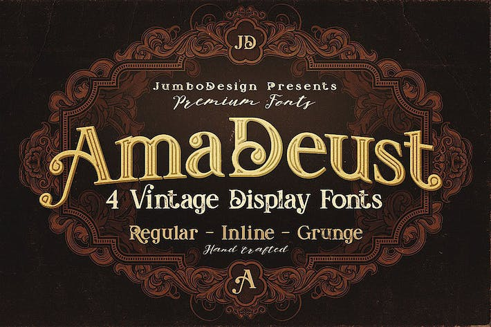 Thumbnail for AmaDeust - Display Font