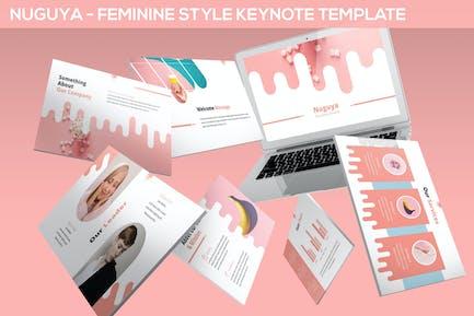 Nuguya - Feminine Style Keynote Template