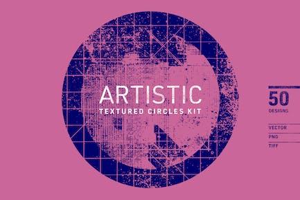 Artistic Textured Circles Kit