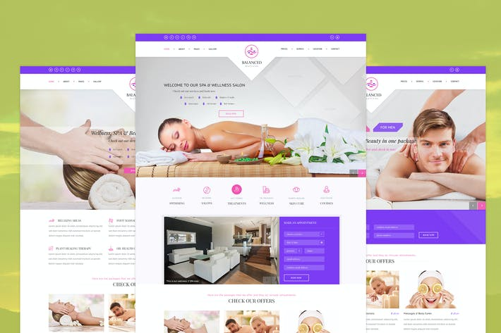 Thumbnail for Balanced -  SPA, Wellness & Beauty PSD Template