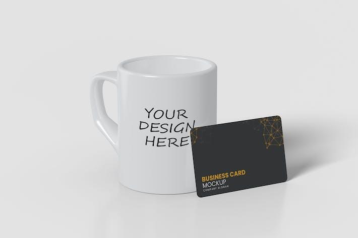 Thumbnail for Mug and Card Mockup